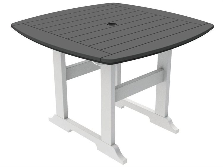 Seaside Casual The Portsmouth Recycled Plastic 42'' Wide Square Dining Table PatioLiving