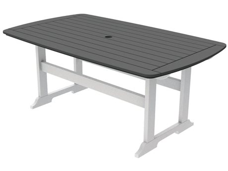 Seaside Casual The Portsmouth Recycled Plastic 72''W x 42D Rectangular Dining Table