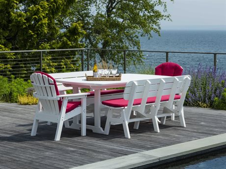 Seaside Casual The Portsmouth Recycled Plastic Cushion Dining Set