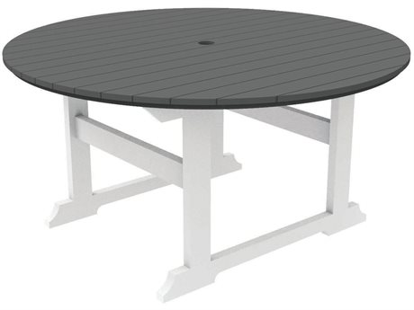 Seaside Casual Salem Rounds Recycled Plastic 59''Wide Round Dining Table