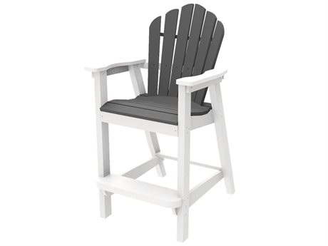 Seaside Casual The Classic Adirondack Recycled Plastic Bar Stool
