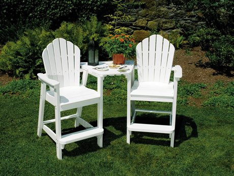 Seaside Casual Classic Adirondack Recycled Plastic Bar Set