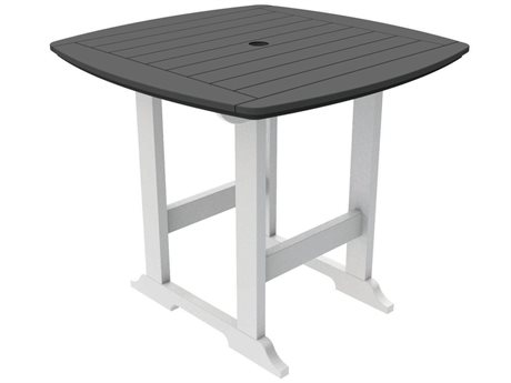 Seaside Casual Portsmouth Recycled Plastic 42'' Wide Square Counter Table