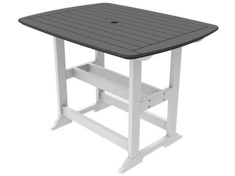 Seaside Casual The Portsmouth Recycled Plastic 56''W x 42''D Rectangular Bar Table