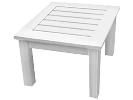 Seaside Casual The Nantucket Recycled Plastic 22'' Wide Square End Table