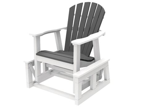 Seaside Casual The Shellback Adirondack Recycled Plastic Single Gilder Chair