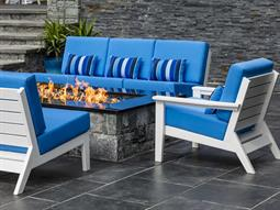 The Dex Recycled Plastic Cushion Firepit Lounge Set