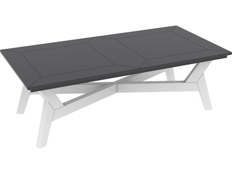 Seaside Casual Dex Recycled Plastic 52''W x 26''D Rectangular Coffee Table