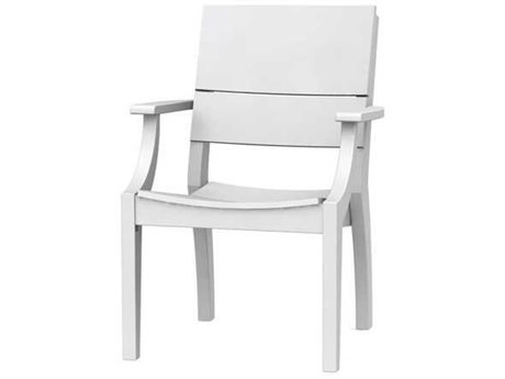 Seaside Casual The Sym Recycled Plastic Dining Arm Chair