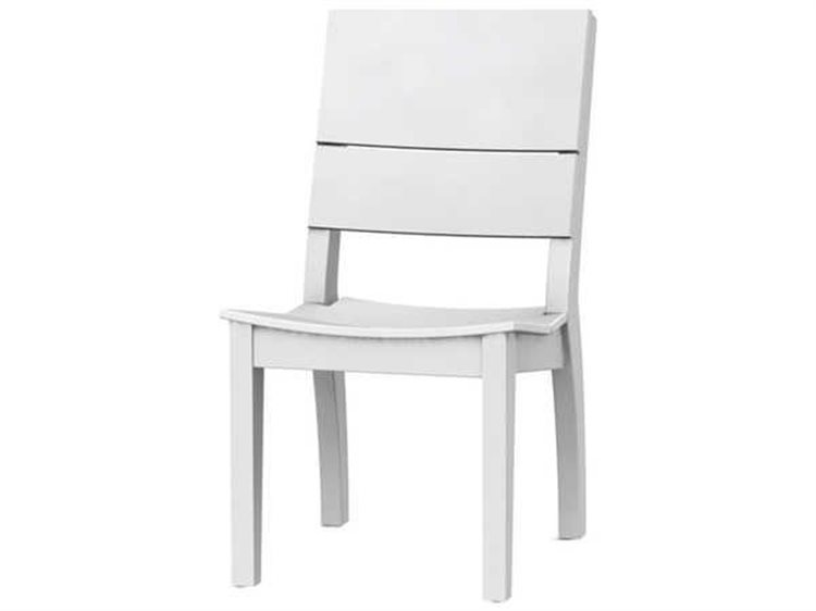 Seaside Casual The Sym Recycled Plastic Dining Side Chair PatioLiving