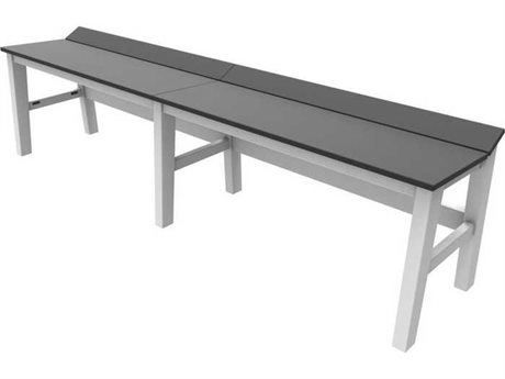 Seaside Casual The Sym Recycled Plastic 72'' Wide Dining Bench