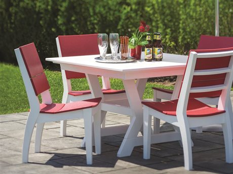 Seaside Casual The Sym Recycled Plastic Dining Set