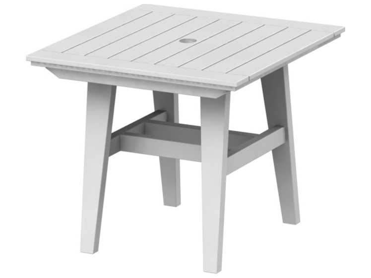 Seaside Casual Mad Recycled Plastic 33 Wide Square Dining Table With Umbrella Hole Ssc277