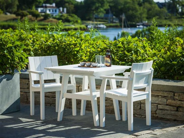 Seaside Casual The Mad Recycled Plastic Dining Set PatioLiving