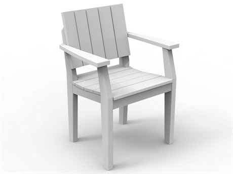 Seaside Casual Mad Recycled Plastic Dining Arm Chair