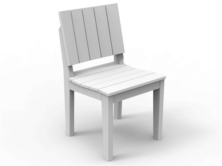 Seaside Casual The Mad Recycled Plastic Dining Side Chair PatioLiving