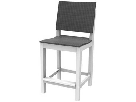 Seaside Casual Mad Recycled Plastic Wicker Counter Stool