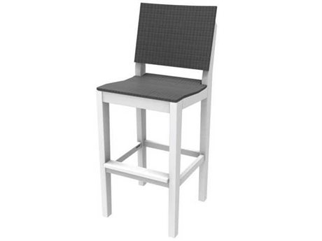 Seaside Casual Mad Recycled Plastic Wicker Bar Stool