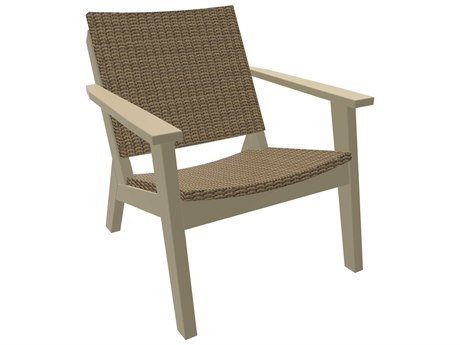 Seaside Casual The Mad Recycled Plastic Wicker Lounge Chair