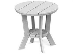 Seaside Casual Mad Recycled Plastic 18'' Wide Round End Table