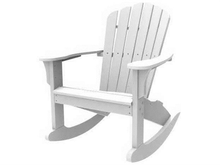 Seaside Casual The Coastline Recycled Plastic Harbor View Adirondack Rocker PatioLiving