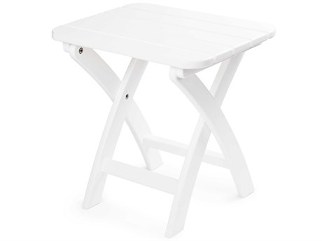 Seaside Casual The Coastline Recycled Plastic Harbor View 18''W x 14''D Rectangular Folding End Table