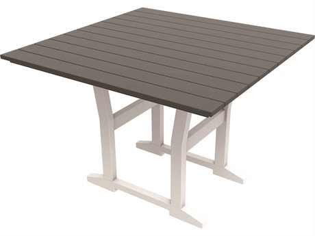 Seaside Casual The Coastline Recycled Plastic Cafe Fusion 40''Wide Square Dining Table