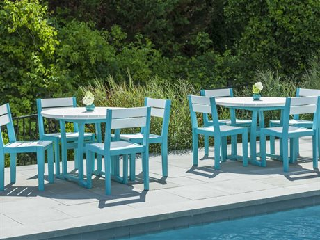 Seaside Casual The Coastline Recycled Plastic Cafe Dining Set