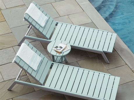 Seaside Casual Mad Aluminum Recycled Plastic Lounge Set