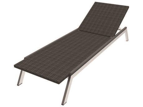 Seaside Casual Mad Aluminum Wicker Chaise Lounge