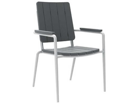 Seaside Casual The Hip Aluminum Dining Arm Chair