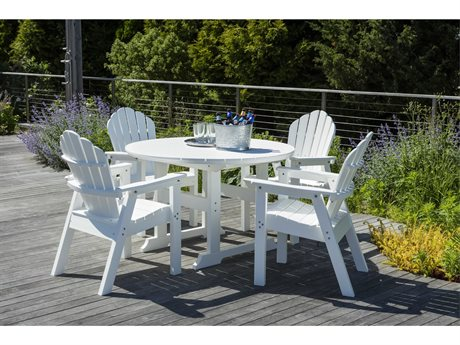 Seaside Casual Classic Adirondack Recycled Plastic Dining Set