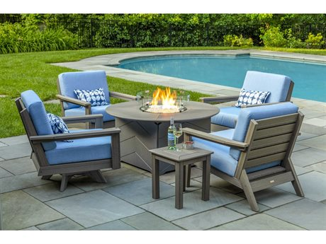 Dex Recycled Cushion Fire Pit Lounge Set