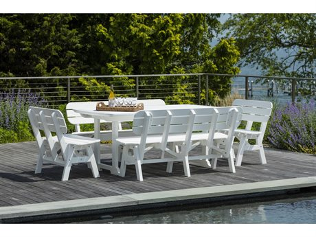 Seaside Casual Portsmouth Recycled Plastic Dining Set