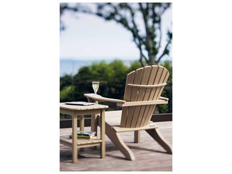 Seaside Casual Shellback Adirondack Recycled Plastic Lounge Set