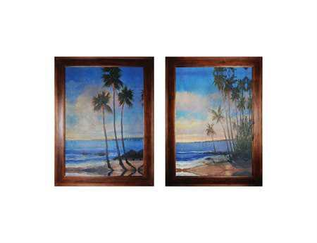 Sterling Embellished Tropical Breeze I & II Wall Art