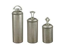 Sterling Halten Antique Mercury Glass Urn (Three Piece Set)