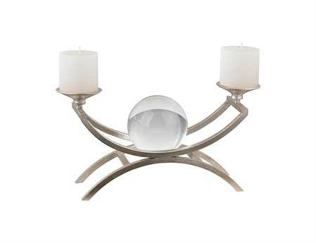 Sterling with Floating Crystal Ball Candle Holder