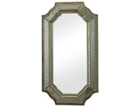Sterling 23 x 42 Smoked & Hand Cut Heavy Glass Wall Mirror