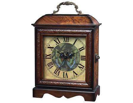 Sterling Green Butterfly Desk Clock