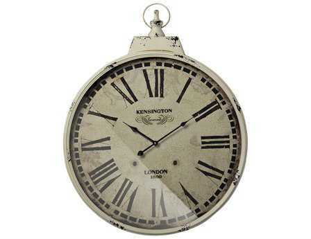 Sterling Kensington Station with Antique Cream Metal Frame Wall Clock