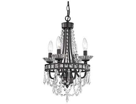 Sterling Dark Bronze Mini 11'' Wide Chandelier