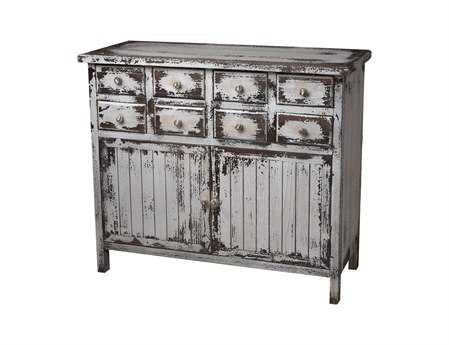 Sterling Heavily Distressed White Chest