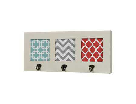 Sterling Chevron Print Wall Hook