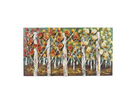 Sterling Autumn Birch Metal Wall Art