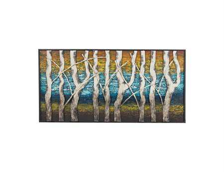 Sterling Queen Lake White Birch At Dawn Metal Wall Art