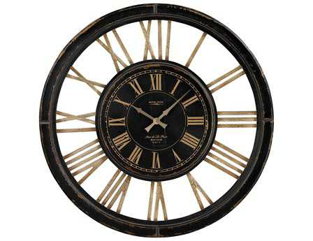 Sterling Large with Distressed Handpainted Frame Wall Clock