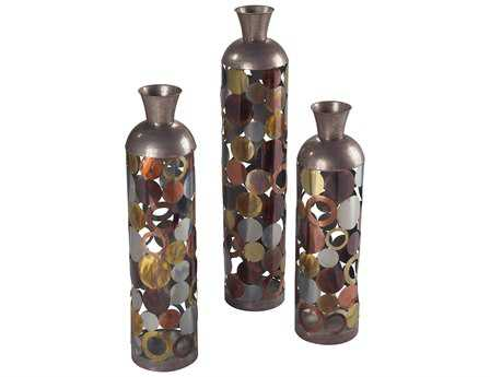 Sterling Rainbow Lacquered Floor Standing Vases (Three Piece Set)