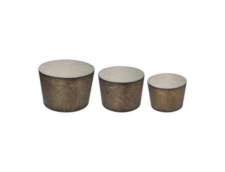 Sterling Shaw Accent Drum Tables (Three Piece Set)