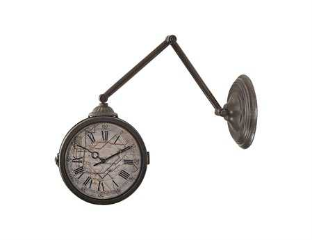 Sterling Double Sided with Map Of New York Subway Wall Clock